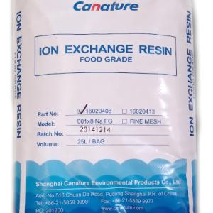 Сильнокислотный катионит Canature Na FG Ion exchange resin №16020408