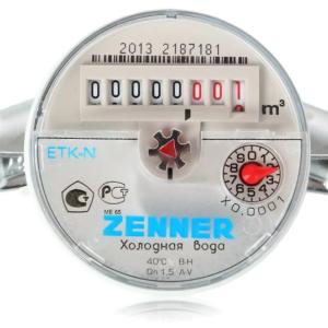 Водосчётчик ZENNER ETK I Dn20/Qn2.5